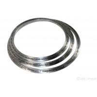 Dumalla Chakkar With Engraved Gurbani Or Dumala Chakar Iron (Punjabi: Sarabloh) Color – Silver Size – 7 - 9 Inch