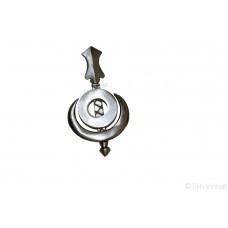 Chand Chakar Khanda Dumala Or Dumalla Shastar Iron (Punjabi: Sarabloh) Color Silver Size Small