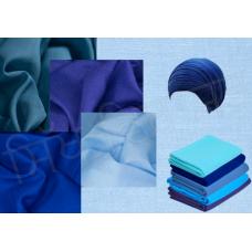 Turban F94 Blue Shades - $2.75 Per Meter