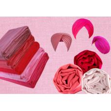 Turban - Full Voil Pink ($2.5 Per Meter)