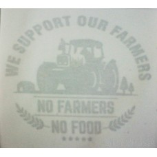 Stickers 2nd Surface No Farmer no food (Double Surface)